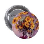 Claude Monet // Sunflowers Pinback Button