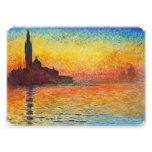 Claude Monet Sunset In Venice Card
