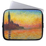 Claude Monet Sunset In Venice Computer Sleeves