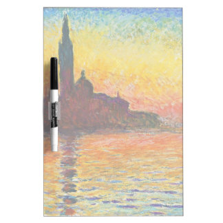 Claude Monet Sunset In Venice Dry-Erase Whiteboards