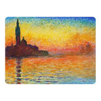 Claude Monet Sunset In Venice Impressionist Art Card