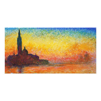 Claude Monet Sunset In Venice Impressionist Art Card