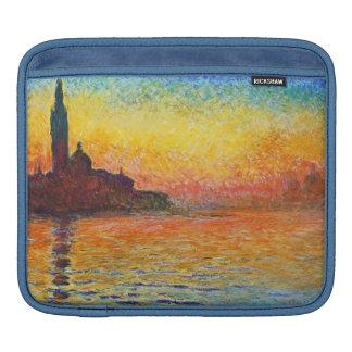 Claude Monet Sunset In Venice Impressionist Art iPad Sleeve