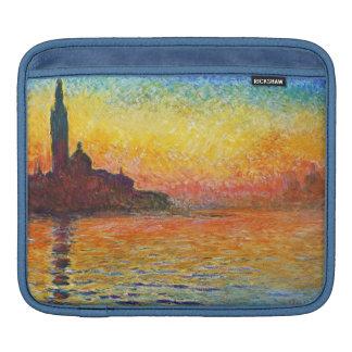 Claude Monet Sunset In Venice Impressionist Art iPad Sleeves