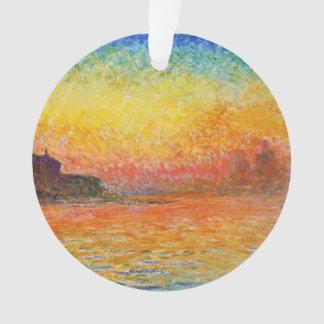 Claude Monet Sunset In Venice Impressionist Art Ornament