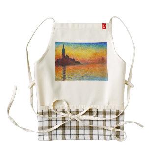 Claude Monet Sunset In Venice Impressionist Art Zazzle HEART Apron