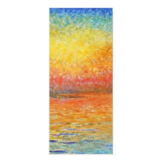 Claude Monet Sunset In Venice 4x9.25 Paper Invitation Card