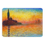 Claude Monet Sunset In Venice 5x7 Paper Invitation Card