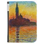 Claude Monet Sunset In Venice Kindle 3 Cases
