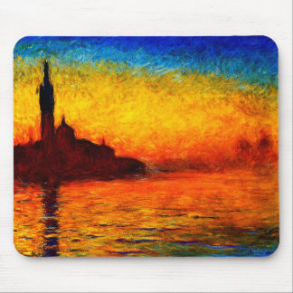 Claude Monet-Sunset in Venice Mouse Pad