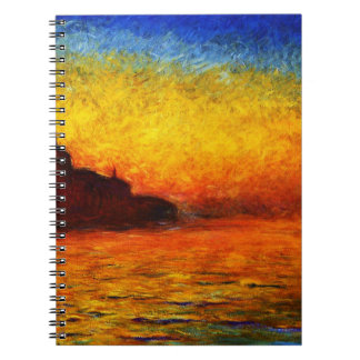 Claude Monet-Sunset in Venice Notebook