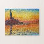 Claude Monet Sunset In Venice Puzzles