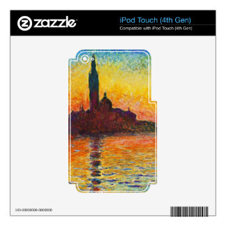 Claude Monet Sunset In Venice Decals For iPod Touch 4G