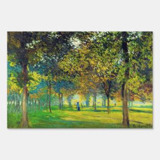 Claude Monet: The Allee Du Champ De Foire Sign