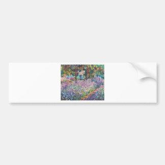 Claude Monet - The Artist's Garden at Givern Car Bumper Sticker