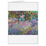 Claude Monet - The Artist's Garden at Givern Greeting Cards