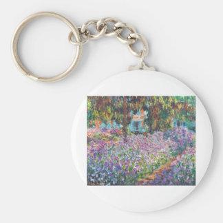 Claude Monet - The Artist's Garden at Givern Keychain