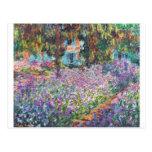 Claude Monet - The Artist's Garden at Givern Post Card