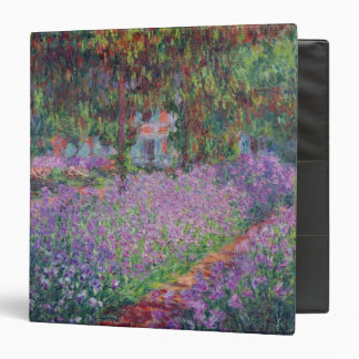 Claude Monet | The Artist's Garden at Giverny 3 Ring Binder