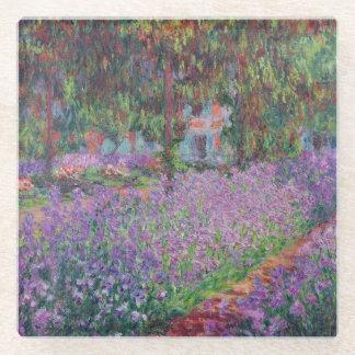 Claude Monet | The Artist's Garden at Giverny Glass Coaster