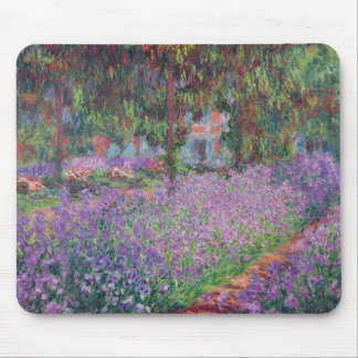 Claude Monet | The Artist's Garden at Giverny Mouse Pad