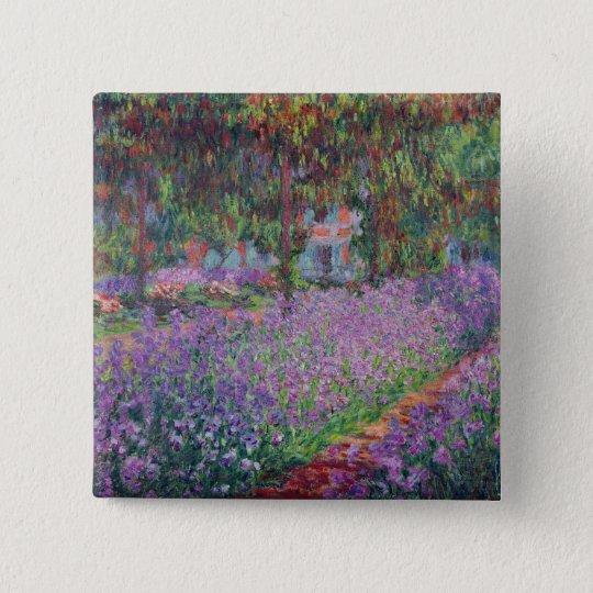 Claude Monet | The Artist's Garden at Giverny Pinback Button
