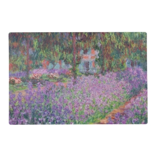 Claude Monet | The Artist's Garden At Giverny Placemat at Zazzle