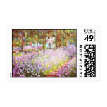 Claude Monet The artists garden at Giverny Postage Stamps