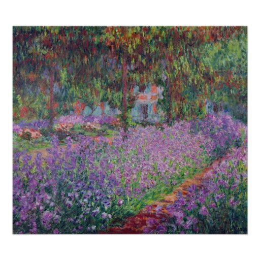 Claude Monet   The Artist's Garden at Giverny Poster