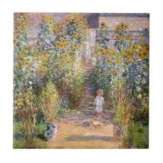 Claude Monet The Artist's Garden at Vétheuil, 1880 Small Square Tile