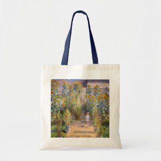 Claude Monet - The Artist's Garden at Vétheuil Budget Tote Bag