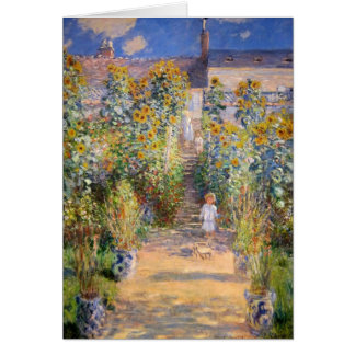 Claude Monet - The Artist's Garden at Vétheuil Card