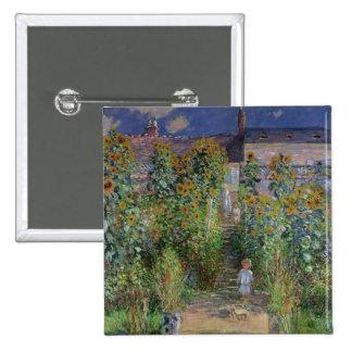 Claude Monet | The Artist's Garden at Vetheuil Pinback Button