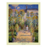 Claude Monet - The Artist's Garden at Vétheuil Print