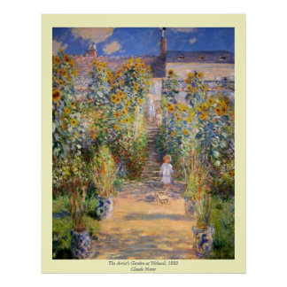 Claude Monet - The Artist's Garden at Vétheuil Poster