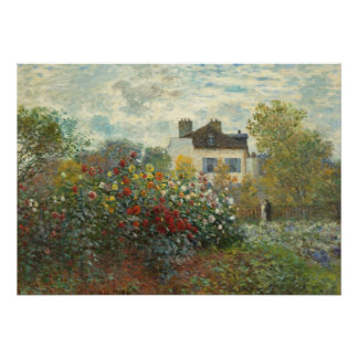 Claude Monet | The Artist's Garden in Argenteuil Poster