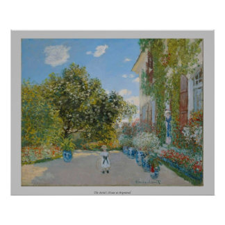 Claude Monet - The Artist's House at Argenteuil Poster