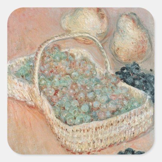 Claude Monet   The Basket of Grapes, 1884 Square Sticker