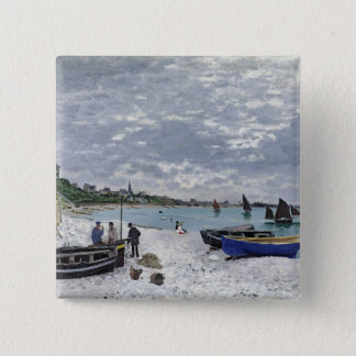 Claude Monet | The Beach at Sainte-Adresse Button