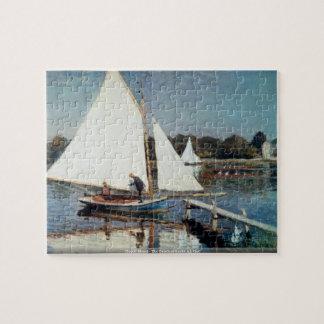Claude Monet - The Beach at Sainte Adresse Jigsaw Puzzle