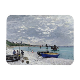 Claude Monet | The Beach at Sainte-Adresse Magnet