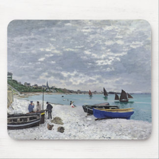 Claude Monet | The Beach at Sainte-Adresse Mouse Pad