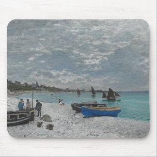 Claude Monet - The Beach at Sainte-Adresse Mouse Pad