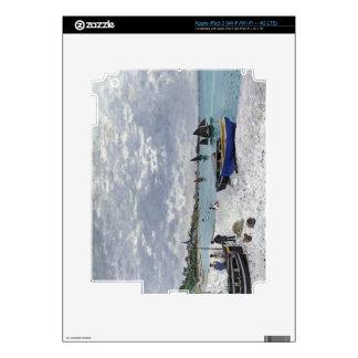 Claude Monet | The Beach at Sainte-Adresse Skins For iPad 3