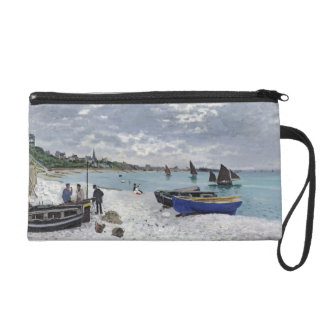 Claude Monet | The Beach at Sainte-Adresse Wristlet Purse