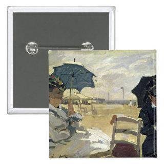 Claude Monet | The Beach at Trouville, 1870 Pinback Button