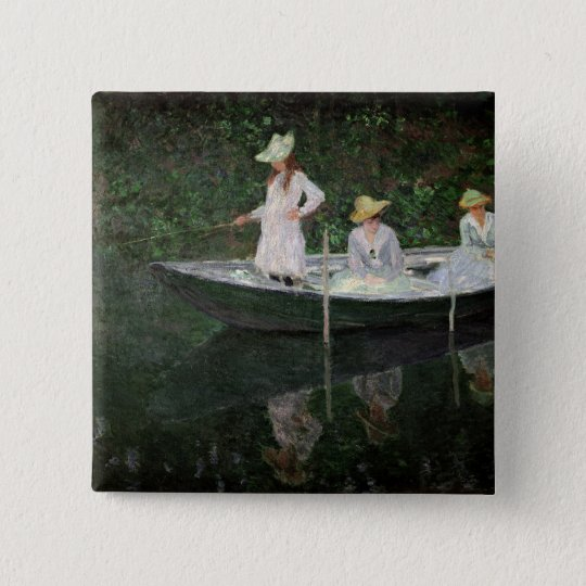 Claude Monet | The Boat at Giverny, c.1887 Button