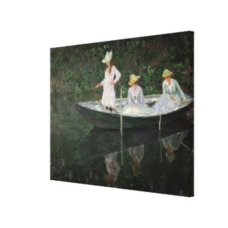 Claude Monet | The Boat at Giverny, c.1887 Canvas Print