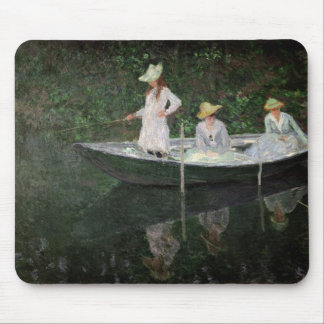 Claude Monet | The Boat at Giverny, c.1887 Mouse Pad