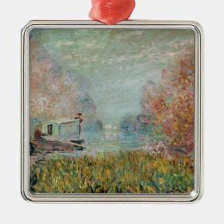 Claude Monet | The Boat Studio on the Seine, 1875 Metal Ornament